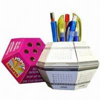 Wholesale Advertising Pop-up Ball Paper Pen Holders, Cube Measures 13x13x7.5cm from china suppliers