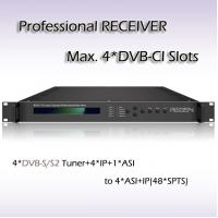 Buy cheap four channel professional receiver dvb to udp rtp rtsp ip
