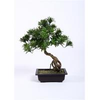 Wholesale Leaning Bonsai Pine Tree BC076-4 , 55cm Artificial Outdoor Bonsai Trees Lush from china suppliers