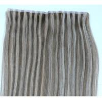 Remy Human Hair Skin Weft / Skin Weft Hair Extension for sale