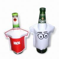 Wholesale Bottle Coolers in T-shirt Design, Made of PVC, Non-toxic, Portable, Reusable and Easy to Use from china suppliers