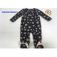 China Snowman Applique Baby Girl Pram Suit Cap Snap Tab 100% Micro Fleece Coverall on sale