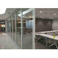 China Office Frameless Glass Wall , Aluminum Interior Glass Partitions Sliding on sale