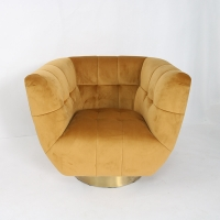 Wholesale Modern Coaster Tufted Sofa With Gold Stainless Steel Base from china suppliers
