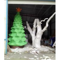 Wholesale customize size fiberglass green large christmas tree  as decoration statue in garden /shop mall/ supermarket from china suppliers
