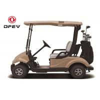 Dongfeng 2 Seater Golf Carts , Street Legal Electric Vehicles In Beach Gold Colour