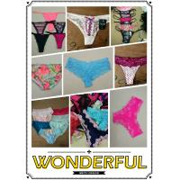Wholesale hot selling cheap assorted women sexy lace underwear ladies lingerie mature T-back Summer panties stock from china suppliers