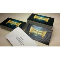 China 500gsm Graceful Spot Uv Printing Business Cards 90*50mm With 0.6mm Thickness on sale