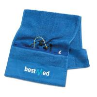 Exercise Towel With Pocket: Wholesale Personalized Cotton Sports Fitness Gym Towel
