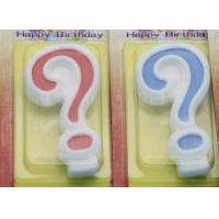 Wholesale !Question Mark !White Egde Question Mark Shape Candles  with 2 Colors Filling-in from china suppliers