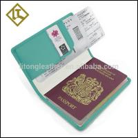 China directly factory customized personalized travel leather passport holder cover