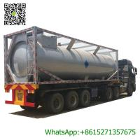 China 30ft Mobile LPG Gas Tank Container Gas Filling Station 30000L  LPG Gas Refilling Skid Plant Station on sale