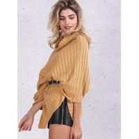 Wholesale Turtleneck Fashion Pullover Sweaters Cable Knit Pullover Womens Capes And Cloaks from china suppliers