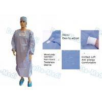 Wholesale Wood Pulp Spunlace Sterile Disposable Surgical Gown With Knitted Cuff from china suppliers