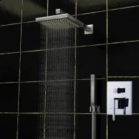 Wholesale Shower Bath Mixer Set Square Ceiling Mounted Rain Shower Heads 140 x 190mm from china suppliers