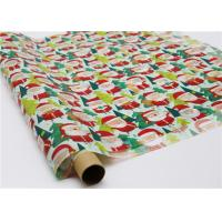 Wholesale Gifts Paper Printed Decorative Wax Paper Santa Claus Pattern One Side Coating from china suppliers