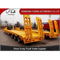 Wholesale Multi-axle hydraulic Low Bed Trailers detachable gooseneck lowboy semi trailer 100 ton from china suppliers