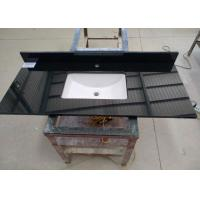 Wholesale Black Commercial Bathroom Countertops Durable With Squared Sink from china suppliers