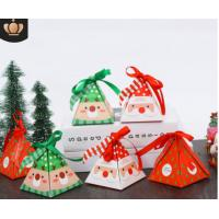 Wholesale Multi Color Christmas Cardboard Boxes , Recycled Paper Folding Gift Box from china suppliers