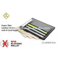 Wholesale Free Sample slim 100% Genuine Cowhide Leather Credit Card Holder from china suppliers