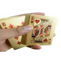Wholesale PVC Material 24K Gold Playing Cards Poker Game Deck Gold Foil Poker Set from china suppliers