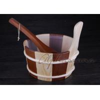 Buy cheap Sauna Accessories Wooden Buckets  And Ladles 4 Liter Capacity from Wholesalers