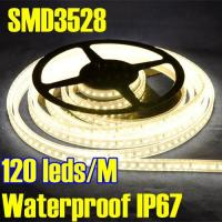 Wholesale Sleeve Waterproof IP67 DC12V Warm White Color LED Flexible Strip SMD 3528 from china suppliers