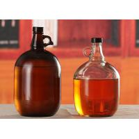 Wholesale Amber Glass Beer Growler 4L Capacity Large Beer Bottle Screw Top Lids from china suppliers