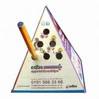 Wholesale Advertising Pop-up Pyramid Paper Pen Holder, Made of 500 Microns Box Board from china suppliers