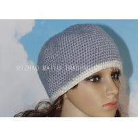 Wholesale Alpaca Crochet Womens Hat Washable Ladies Crochet Hats With White Hat Brim from china suppliers