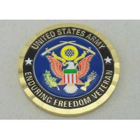 Personalized Coins By Brass Die Struck For Enduring Freedom Veteran And Diamond Cut Edge