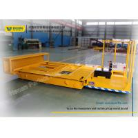 Wholesale Metal Coil Transfer Trolley / Motorized Rail Cart With Steel Pipe Handling from china suppliers