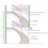 Portable DIY Tempered Glass Panels glass/wooden deaign Curved Stairs