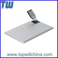 Metal Card 2GB Usb Flash Disk with Long Usb and Free Company Design Printing