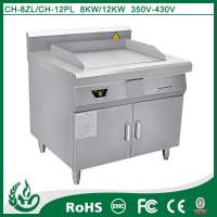 China 12kw Electric Induction Griddle No Exhaust Professional Kitchen Equipment on sale