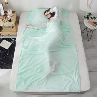 China Anti - Dirt Pure Silk Sleeping Bag Liner Foldable For Outdoor Travelling on sale