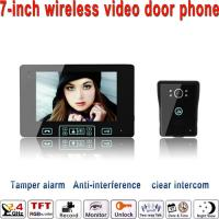 Wholesale 2014 the newest Luxury touch key 2.4GHz door intercom video wireless unlocking from china suppliers
