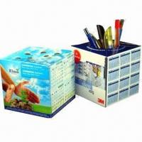 Wholesale Promotional Pop-up cube Paper Pen Holders with Offset Printing from china suppliers