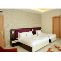 Wholesale King Size Bedroom Furniture Set Walnut Color Modern Style OEM Service from china suppliers