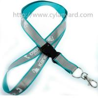 Wholesale Safety reflective neck strap ribbon visible at night, reflective tape lanyards, from china suppliers