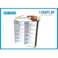 Buy cheap White Gloss POP Cardboard Floor Displays 12 Cell For Selling Clock from Wholesalers