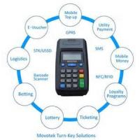 China Movotek GPRS Point of Sale Terminal with High-speed Thermal Receipt Printer on sale