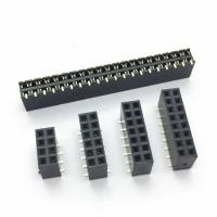 Buy cheap Dalee 1.27mm Female header socket Dual row SMT 2.0 mm high of Plastic from wholesalers