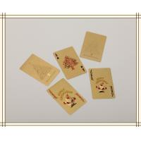 Wholesale Christmas day gifts Custom Gold Playing Cards WITH Both sides from china suppliers
