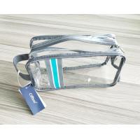 Wholesale Luxury Reusable Clear Travel Kit Zipper Pouches Soft PVC Travel Kit Cosmetic Pouch with Hand Loop from china suppliers