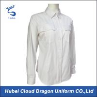 Buy cheap Custom Size White Law Enforcement Shirts Long Sleeve For Security Departments from Wholesalers