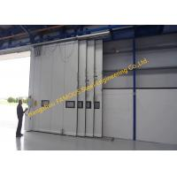 Wholesale Multi Sector Structural Folded Hinged Sliding Doors Bottom Rolling Hangar Door Smart Track Design from china suppliers
