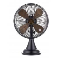 Buy cheap 110V 12 Inch Metal Desk Fan Bronze Retro With Copper Motor High Rotation from wholesalers