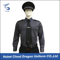 Buy cheap Long Sleeve Security Uniform Shirts / Zip Front Military Style Shirt Size Custom from Wholesalers
