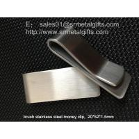 China 1.5mm thick heavy duty stainless steel money clips mens wallet, metal money clip for men, on sale